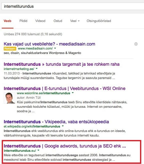 internetiturundus näide