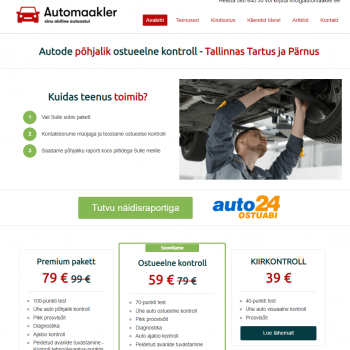 Auto24 ostuabi automaakler kodulehe tegemine